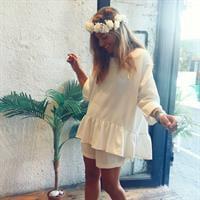 חליפת רומבה לבנה