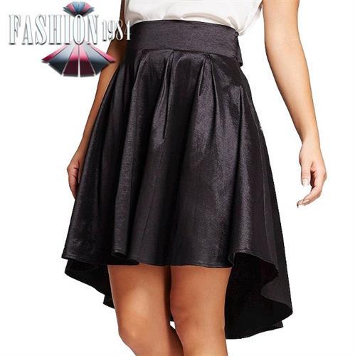 חצאית קלאסת מעוצבת דגם מיילי (צבע שחור)