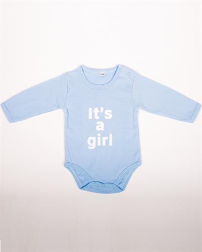 אוברול כחול לתינוקת It's a girl