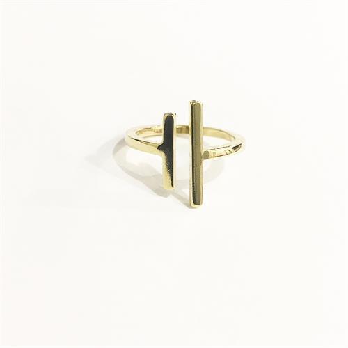 טבעת פסים זהב