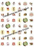 Christmas elements 48 pic Transfer sheet