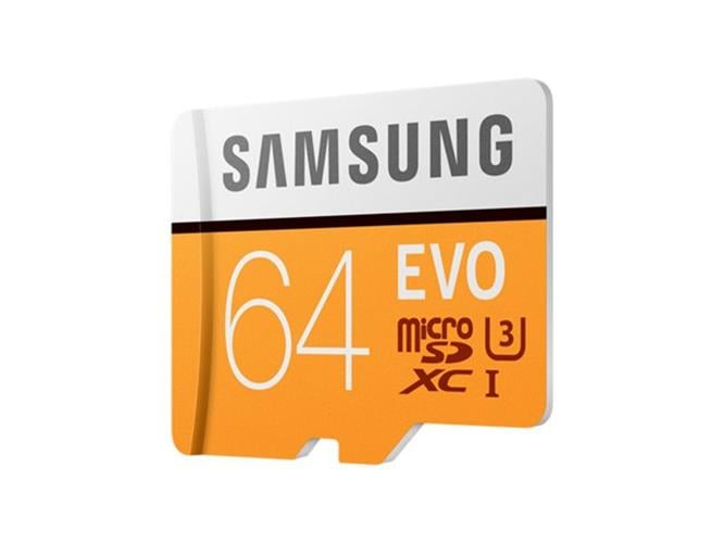 כרטיס זיכרון MicroSDXC samsung EVO Memory Card Adapter 64GB U3