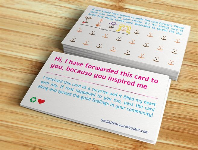 50 Smile it Forward Project Cards - English USA