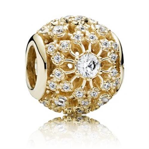 צ'ארם זהב חלול זוהר פנימי 750838CZ