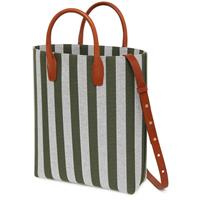 NORTH SOUTH TOTE STRIPE