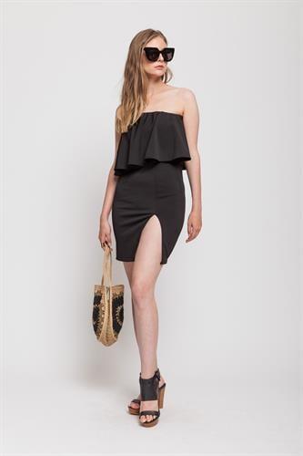 שמלת מונטה קרלו שחורה