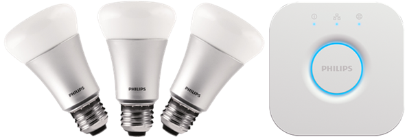 The New Philips Hue white and color ambiance starter kit E27