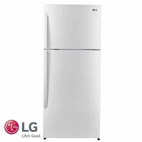 LG מקרר מקפיא עליון 381 ליטר דגם: GR-B440INVW גוון לבן