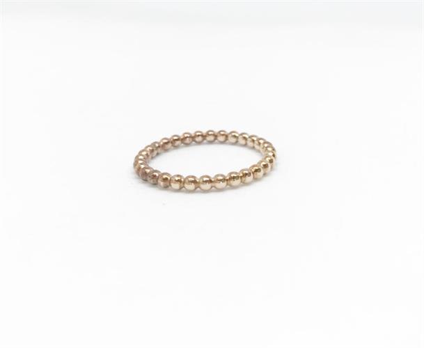 טבעת פלורי דקה זהב ורוד