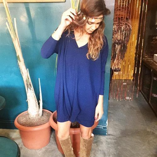 שמלת אלכסה כחול