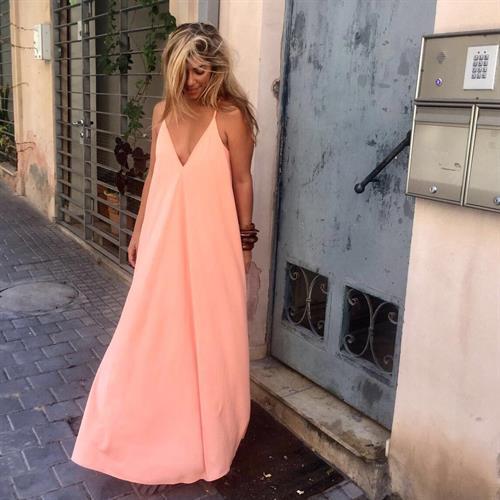 שמלת פיית' אפרסק