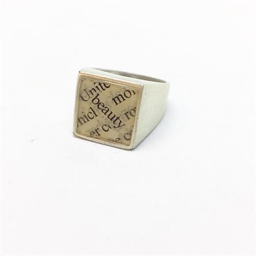 טבעת לואי כסף מט