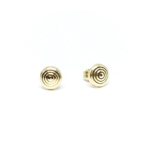 עגילי זהב צמודים| עגילים בעבודת יד |עגילים מעוצבים | עגילי ספירלה| עגילי כפתור | עגילים לכלה