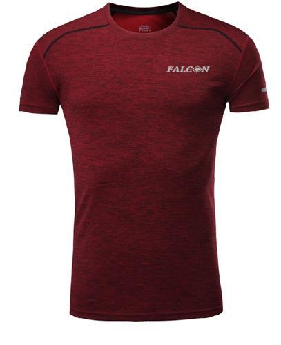חולצת אימון מנדפת זיעה אדומה מותג  Falcon