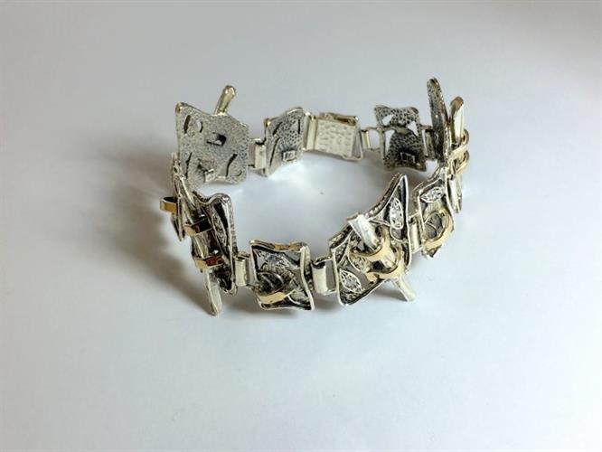 צמיד כסף נשים 925 משולב זהב MY210140057885