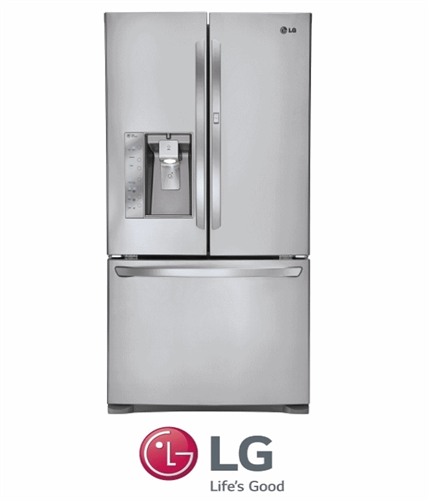 LG מקרר 3 דלתות + קיוסק + דלת בתוך דלת דגם: GR-J31DID נירוסטה מתצוגה!