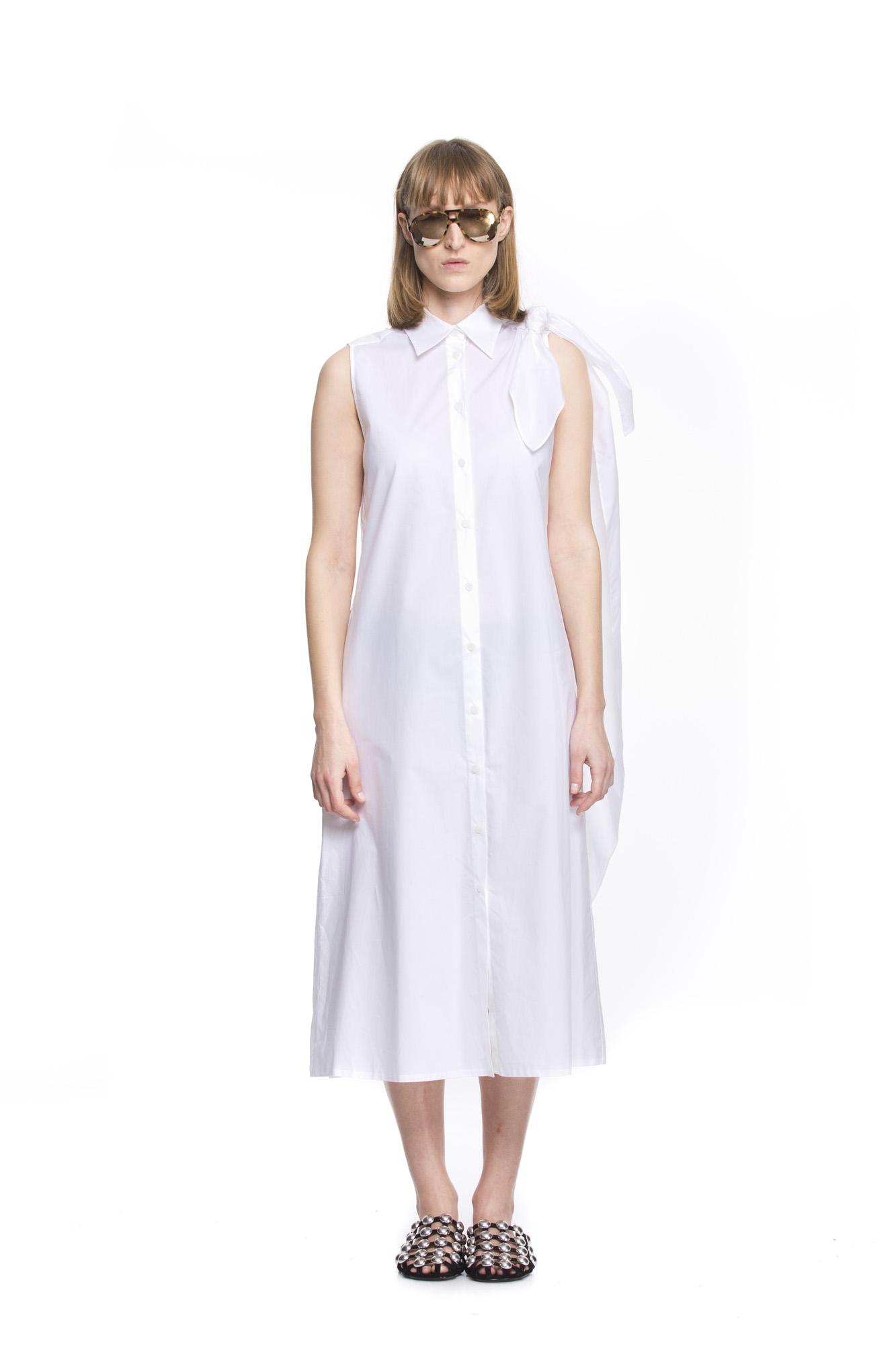 MM6 BOW WHITE DRESS