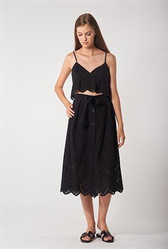 שמלת לורה קרושה שחורה