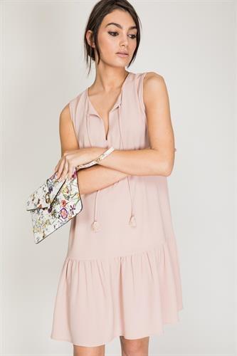 שמלת פלם ורוד
