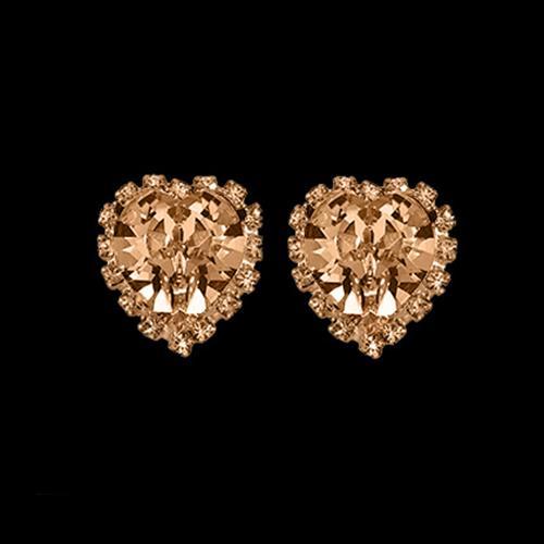 זוג קליפסים לב מתוק - GOLDEN SHADOW-שמפניה