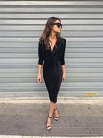 שמלת אריקה שחור קטיפה