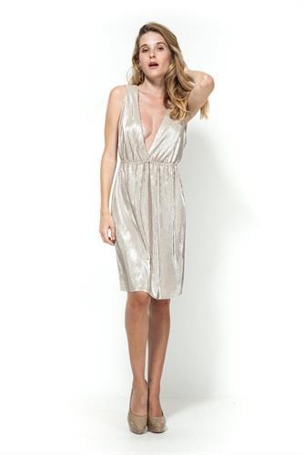 שמלת אמילי קצרה זהב