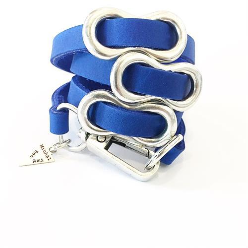 צמיד שמיניה כחול כסף