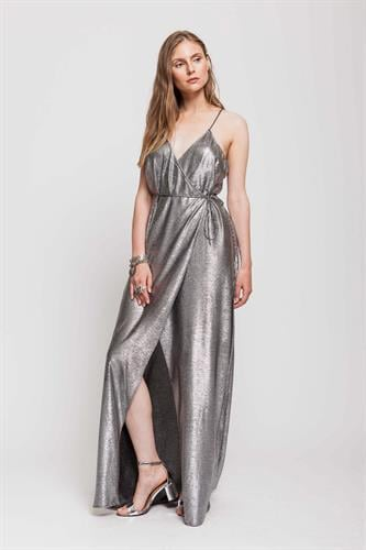 שמלת סקרלט כסף לורקס