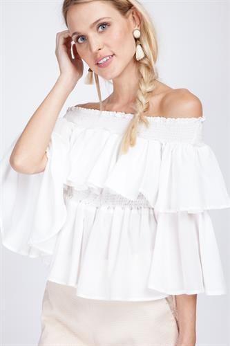 חולצת איזבלה לבן