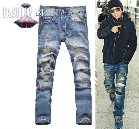 ג'ינס מעוצב דגם לוואפר (צבע כחול)