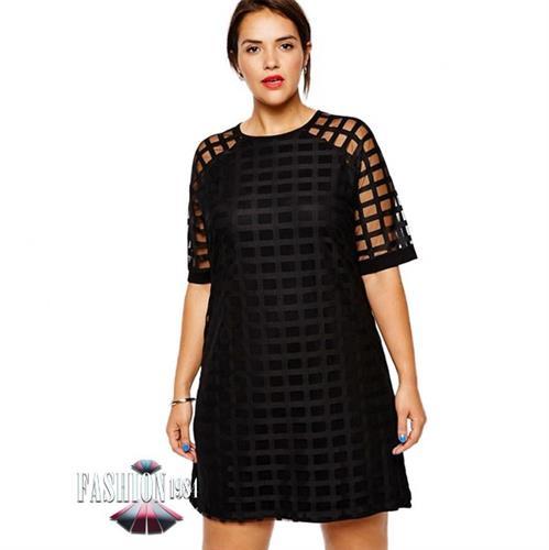 שמלה מעוצבת דגם ג'וסלין (צבע שחור)