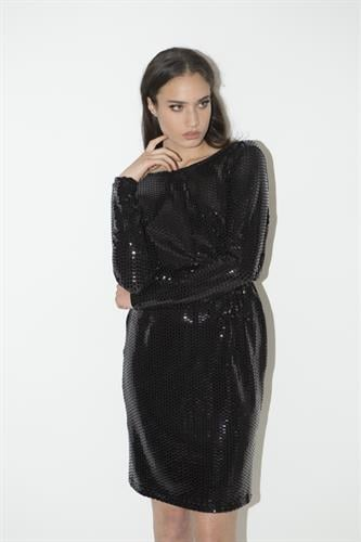 שמלת גולדי שחור פייט