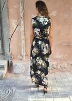 שמלת נבדה פרינט שחור