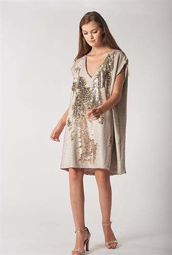 שמלת מירנדה שמנת