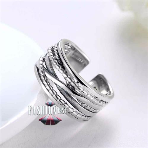 טבעת כסף מעוצבת דגם ויאו