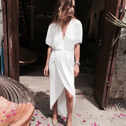 שמלת אלין לבנה
