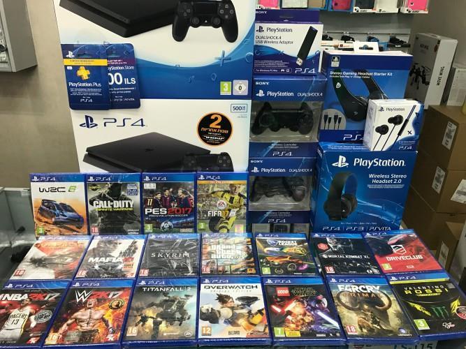 bundle 1tera  PS4 S New ישפאר