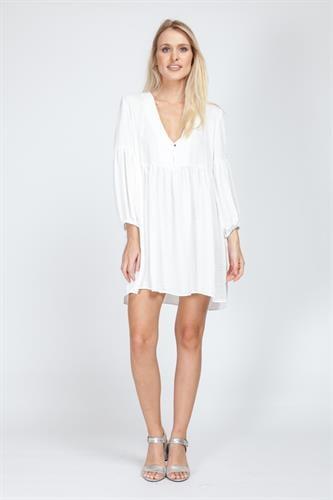 שמלת לינדה לבן