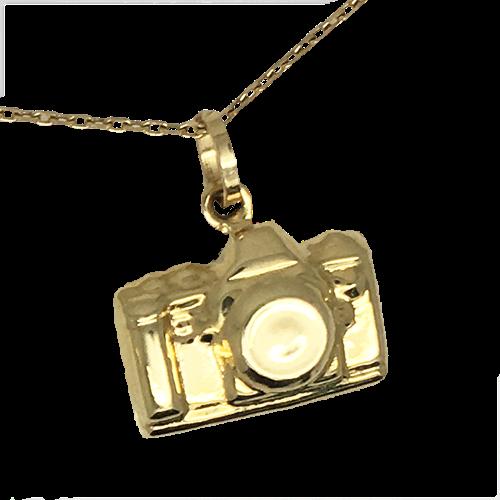 תליון מצלמה גברים נשים זהב 14K צהוב  OP0716096XX