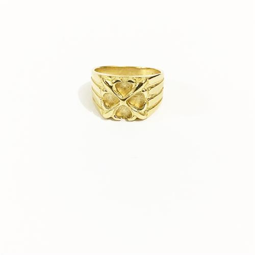 טבעת זרת לגבר זהב