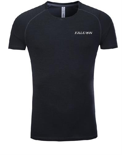 חולצת אימון מנדפת זיעה שחורה מותג  Falcon