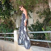 שמלת טינקרבל שחור לבן