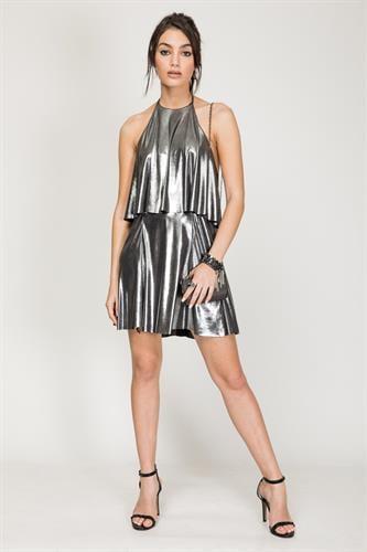 שמלת הילטון אפור