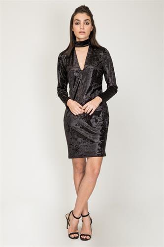 שמלת ג'ס שחור