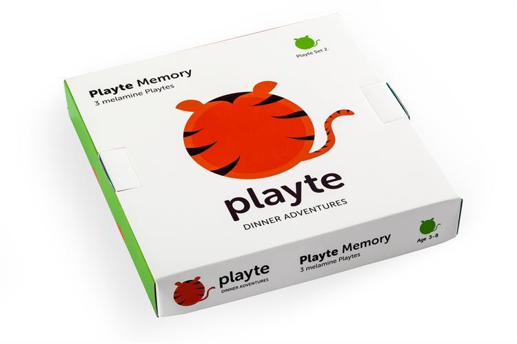 Playte  משחקי צלחת - 3 צלחות שהן גם משחק זכרון