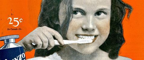 משחת שיניים מאבקת חוואר