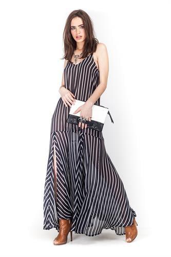 שמלת קלואי פסים