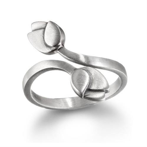 טבעת כסף לוטוס