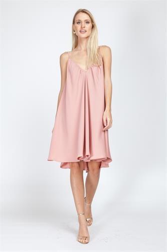 שמלת קלי ורודה