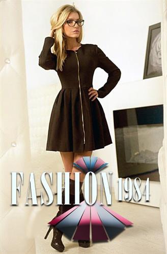 שמלה מידי מעוצבת לורן קלאב (צבע שחור)